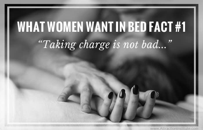 women want men who take charge